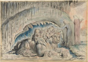 Cerberus (2nd version), William Blake, dalle illustrazioni alla Divina Commedia di Dante Alighieri – 1824/27, Tate Gallery, London